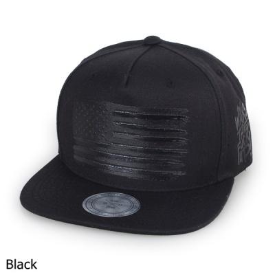 [디꾸보]블랙 성조기 배색 챙 스냅백 모자 H-OH048R