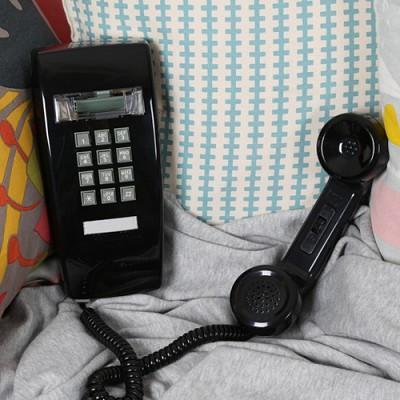 Made in USA 코텔코 빈티지 벽걸이 유선전화기 블랙