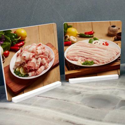 il245-스탠드액자2P_신선한돼지고기2(대패,삼겹살)