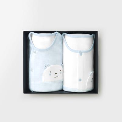 메르베 M곰돌이 돌선물세트(내의+수면조끼)_사계절용