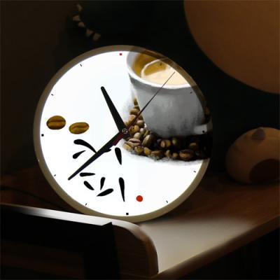 nf463-LED시계액자25R_커피