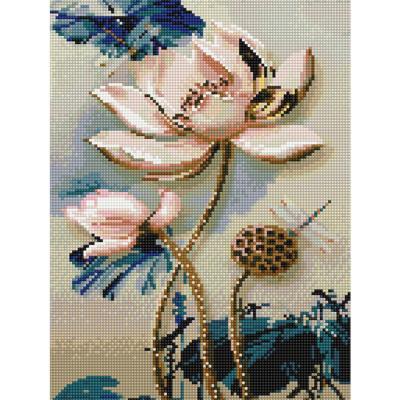 연꽃 (캔버스형) 보석십자수 30x40