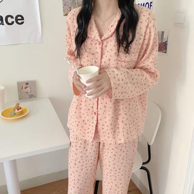 여성 홈웨어 잠옷 세트 파자마 체리 요루면