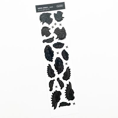 푸푸남 천사날개 [블랙] 씰스티커
