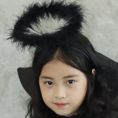 천사 링 머리띠 (블랙)