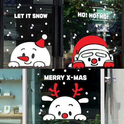 제제데코 크리스마스 눈꽃 스티커 장식 CMS4J176