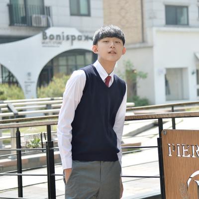 [빅사이즈] 보풀방지 네이비 교복조끼(남자) ~4XL