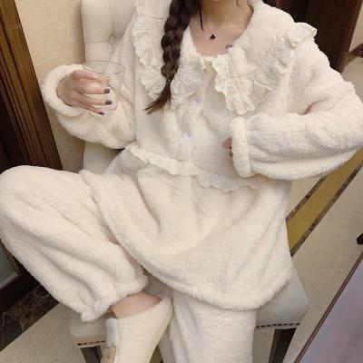 여성 홈웨어 잠옷 세트 수면 파자마 베이미 레이스