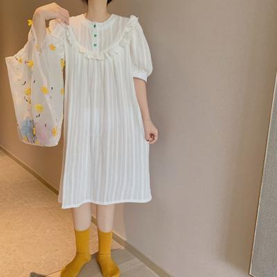 여성 홈웨어 잠옷 세트 파자마 로망 썸머 원피스