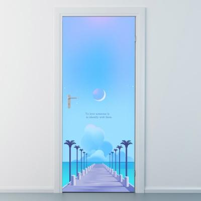 nces244-푸른밤-현관문시트지