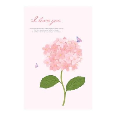 왈가닥스 메세지 포스트카드 엽서 - hydrangea