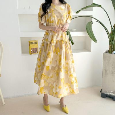 Blossom Fit N Flare Long Dress