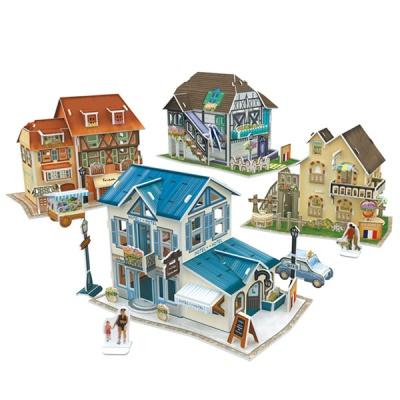 큐빅펀 3D월드스타일 프랑스 전통가옥세트
