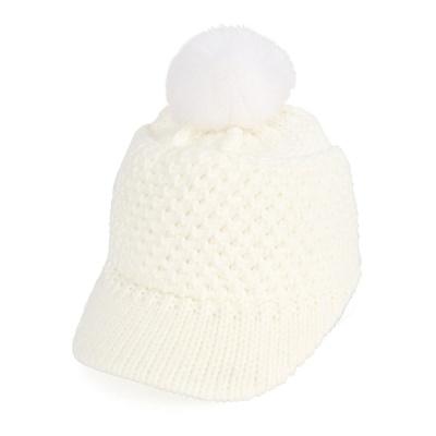 [디꾸보]벌집 방한 니트 캡 방울 모자 AC484