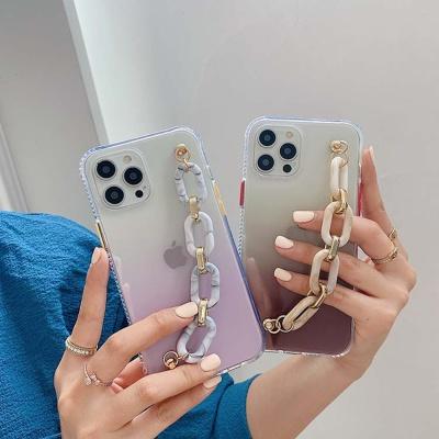 아이폰 12 11 pro max xs 8 그라데이션 스트랩 케이스