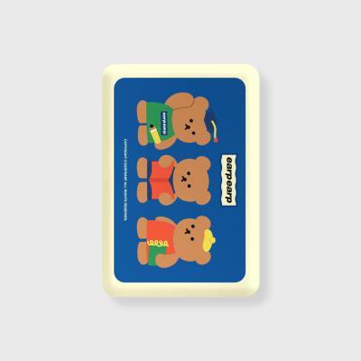 Smart bear friends-blue(무선충전보조배터리)