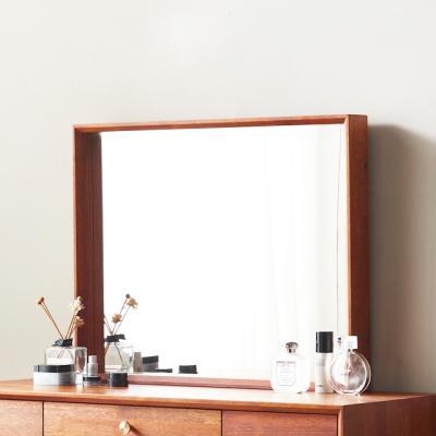 큐브M 사각 화장대거울 원목 벽거울