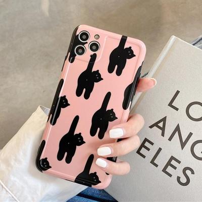 아이폰11 SE2 XR X 8 카메라보호 고양이 젤리 케이스
