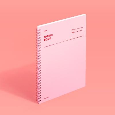 [모트모트] 스프링북 - 로즈쿼츠 (룰드) 1EA