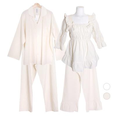 [쿠비카]오가닉 코튼 투피스 커플잠옷 WM307