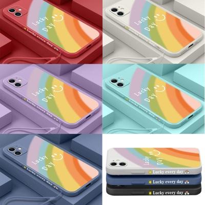 아이폰12 미니 pro max 럭키데이 레터링 스트랩케이스
