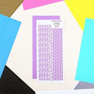 워너디스 드롭 라인 나비 스티커 10가지 컬러 세트
