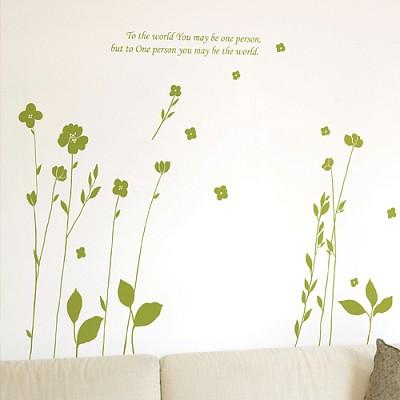 [디자인베이]  비밀의화원 (반제품A타입) 그래픽스티커 식물꽃 포인트 시트지