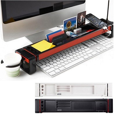 다용도 멀티 수납보드 and 3포트 USB 허브 Istick DB-3000 (멀티 카드리더기 / 카피홀더 / 컵홀더 / 펜꽂이 / 포토 슬롯 /  핸드폰 거치대 /키보드 수납 선반 )