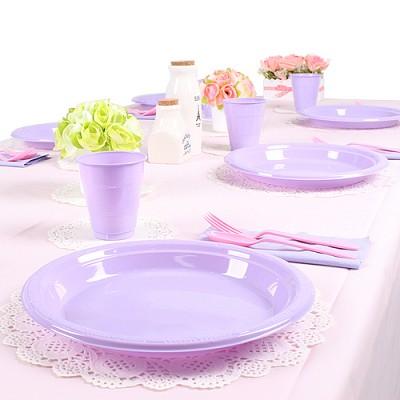 파티테이블셋팅패키지(10인용)-핑크&라벤더