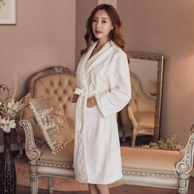 [쿠비카]여성잠옷 별달 천지 극세사가운 BNBR-W844