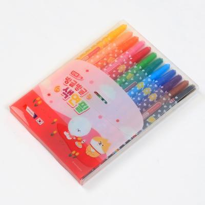 4000 빙글빙글색연필 (12색/핑크)
