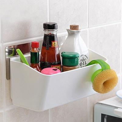 [시바타]매직 강력흡착 다용도 욕실수납함