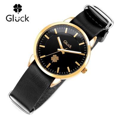 [Gluck]글륵 행운의 시계 GL2302-GBBK 나토 18mm 본사정품