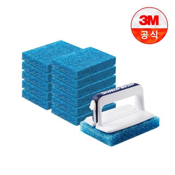 [3M]크린스틱 뉴올인원 욕실청소용 핸들+리필12입