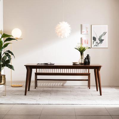 [채우리] 나스르 원목 6인 식탁 테이블 + 벤치1