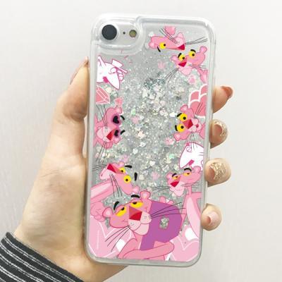 핑크팬더 패턴 글리터케이스
