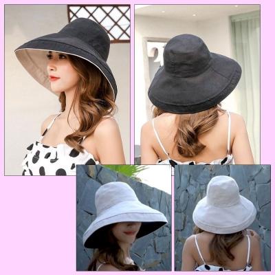 여자 여성 자외선 햇빛 차단 챙큰 바캉스 비치 모자