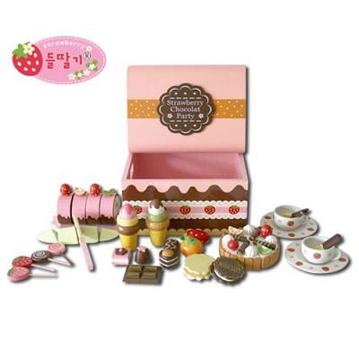 [들딸기]쵸코렛 생일케이크 소꿉놀이 세트