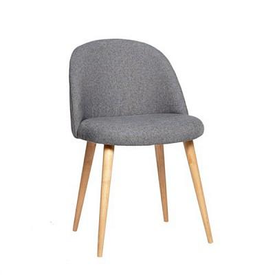 [Hubsch]Chair w/wooden legs, grey 108001 의자