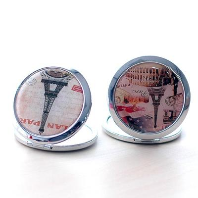 에펠탑 디자인 메탈 손거울