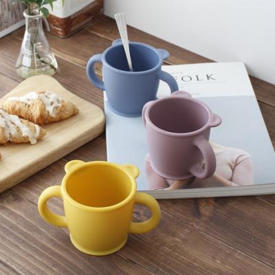 파스텔 실리콘 양손 컵- 3color