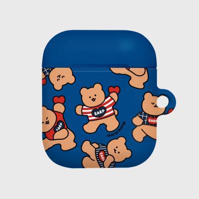 Dot dancing bear-blue(Hard air pods)