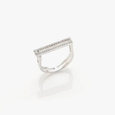 제이로렌 0R0262 슬림 직사각 큐빅 프리사이즈 반지