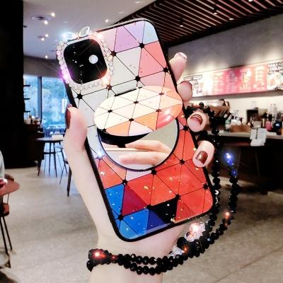 갤럭시노트10플러스/노트9/노트8 거울+휴대폰 목걸이