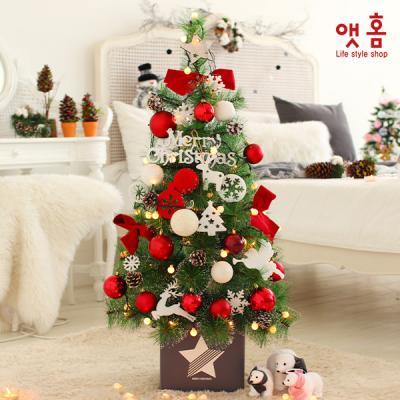 앳홈 레드리본 크리스마스 트리 / 1m 솔트리