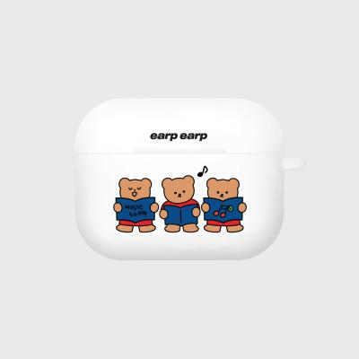 Music song bear-white(Air pods pro case)