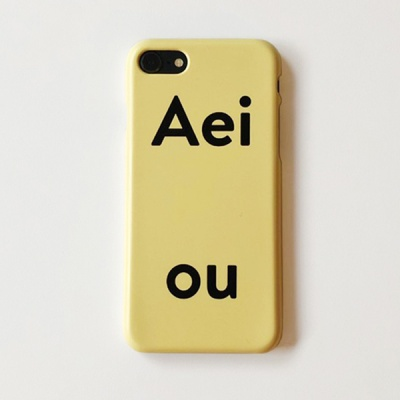아에이오우 아이폰케이스_RR Door Yellow