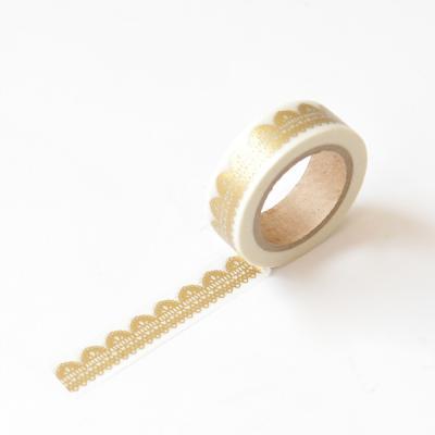 왈가닥스 메탈릭 마스킹테이프 - 37 Lace Gold