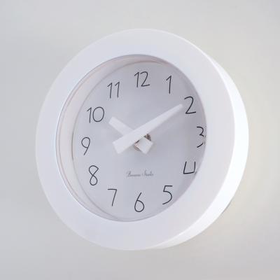 파스텔 이중흡착 욕실시계 (화이트) 벽 시계 추카