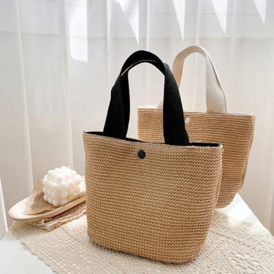 트리 여름가방 기본 왕골 핸드백